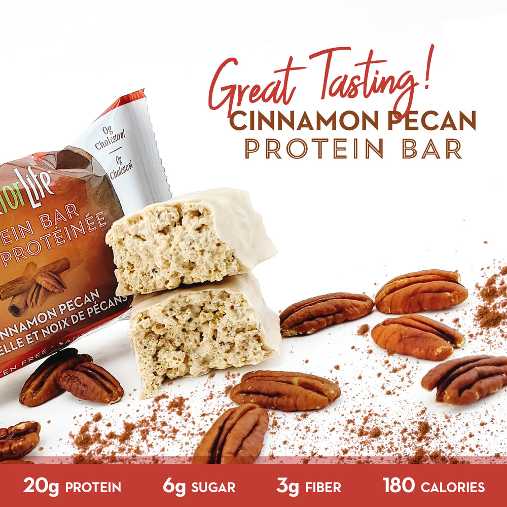 Low Sugar Cinnamon Pecan Protein Bars - Smart for Life
