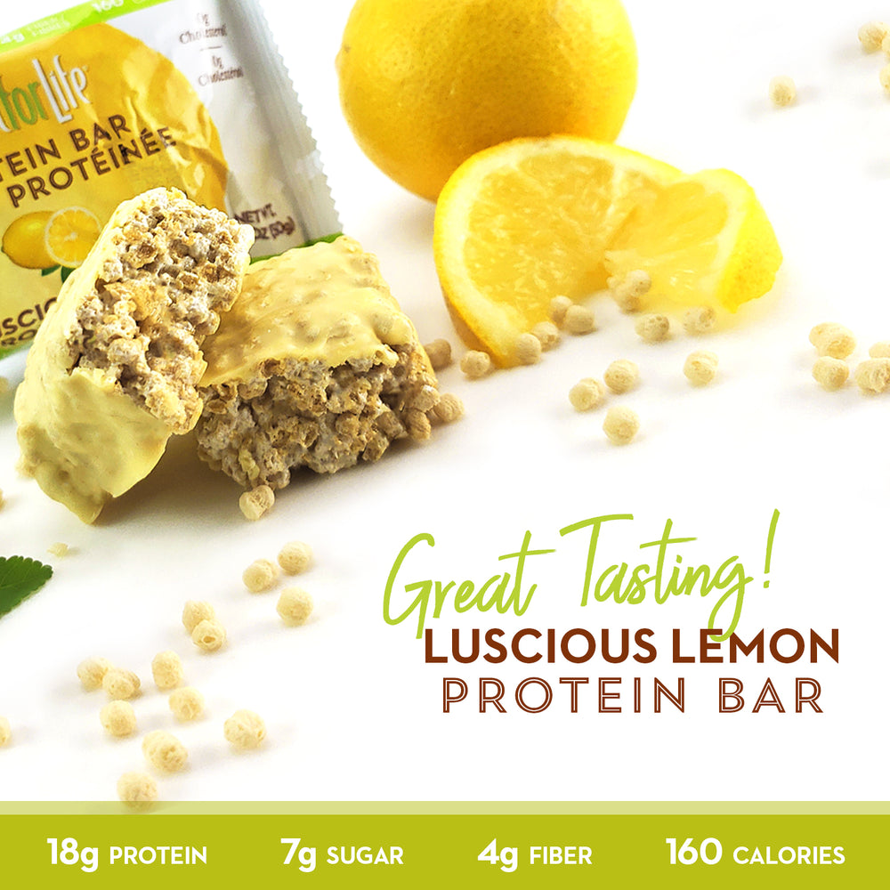 Luscious Lemon Protein Bars