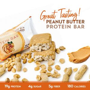 Low Sugar, Non-GMO, Gluten-Free, Peanut Butter Protein Bars from Smart for Life