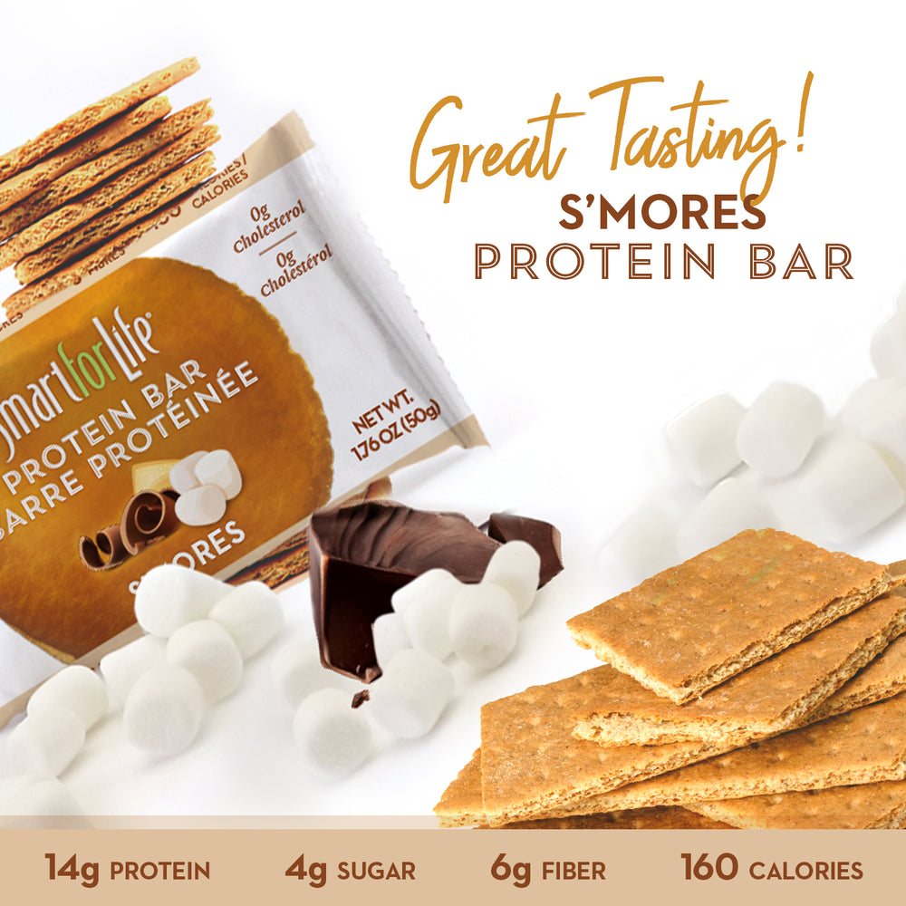 Low Sugar S'mores Protein Bars - Smart for Life
