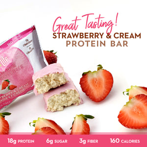 Low Sugar Strawberry & Cream Protein Bars - Smart for Life Cookie Diet