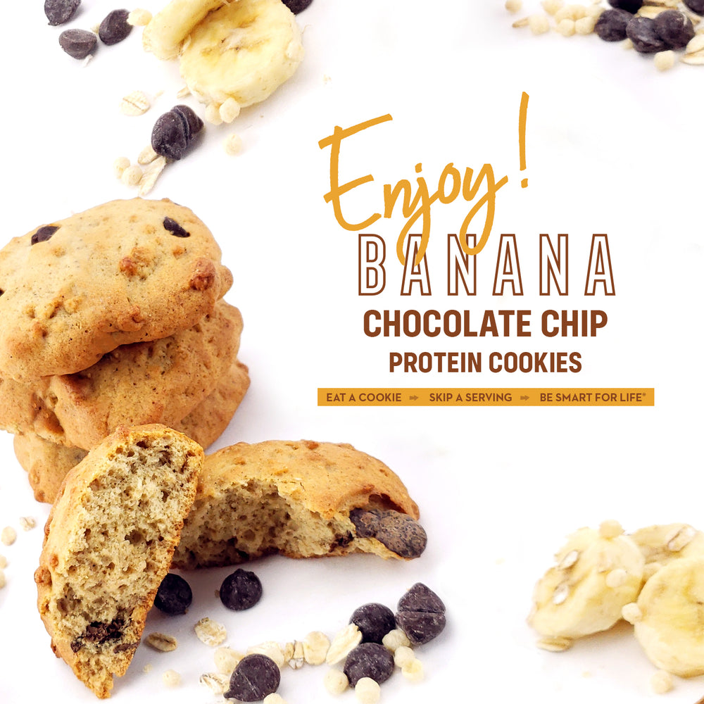 Gluten-Free Banana Chocolate Chip Cookies (12 Ct.) - Smart for Life Cookie Diet