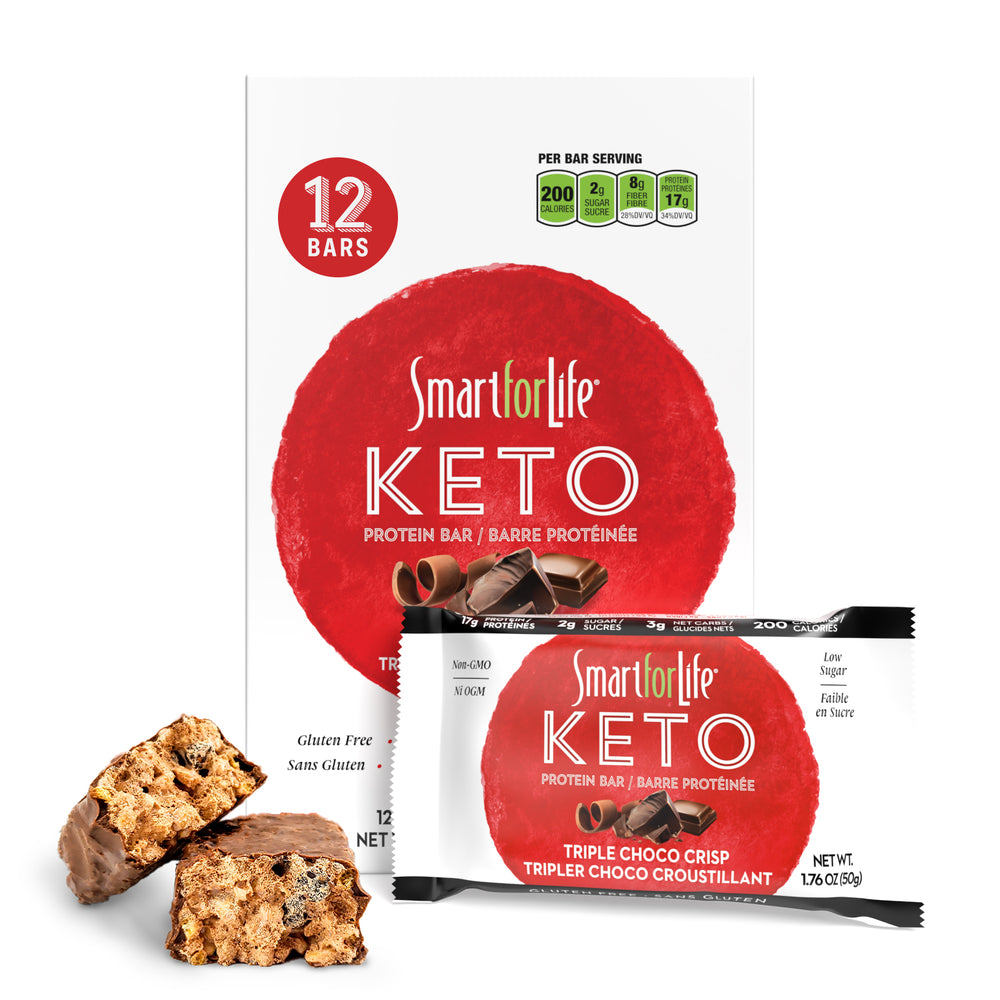 Keto Triple Chocolate Protein Bar - Smart for Life