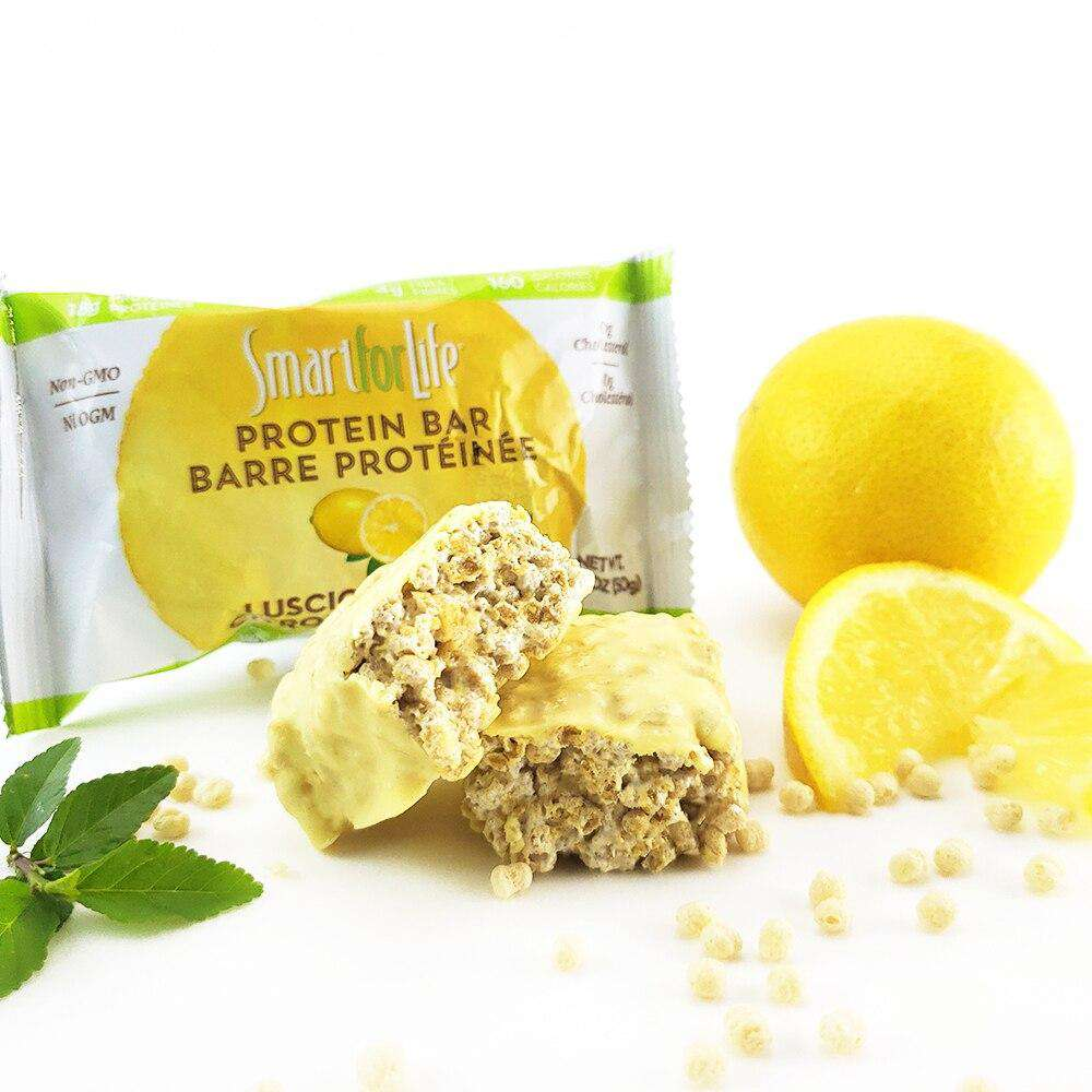Low Sugar Luscious Lemon Protein Bars - Shop Smart for Life