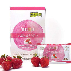Low Sugar Strawberry & Cream Protein Bars - Shop Smart for Life