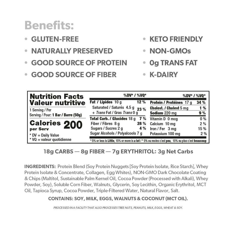 Keto Triple Chocolate Protein Bar (12 Ct.) - Shop Smart for Life