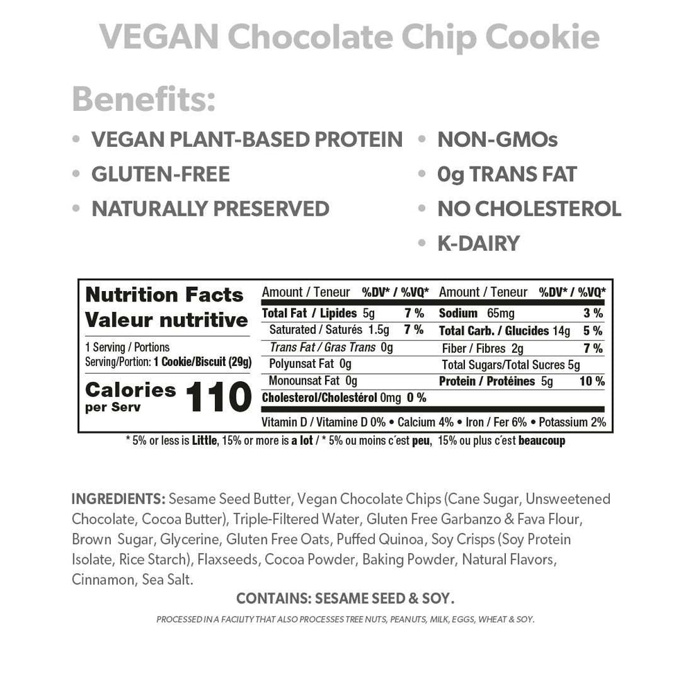 VEGAN Chocolate Chip Cookie - Smart for Life