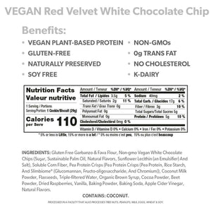 VEGAN Red Velvet White Chocolate Chip Cookies - Smart for Life Cookie Diet
