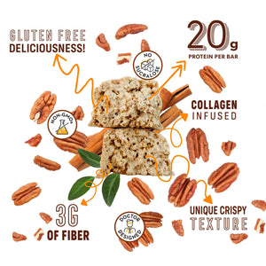 Low Sugar Cinnamon Pecan Protein Bars - Shop Smart for Life