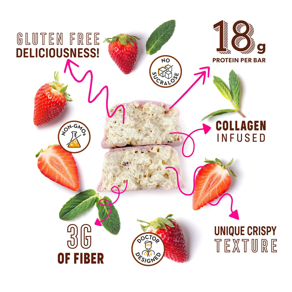 Low Sugar Strawberry & Cream Protein Bars - Smart for Life