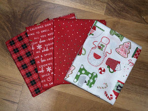 We Whisk You a Merry Christmas Fabric Bundle Red/White