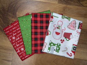 We Whisk You a Merry Christmas Fabric Bundle Green/Red/White