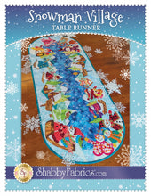 Load image into Gallery viewer, Snowman Village Table Runner