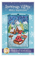 Load image into Gallery viewer, Snowman Village Wall Hanging