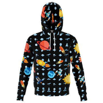 Custom Matching Human Hoodie - Space Theme