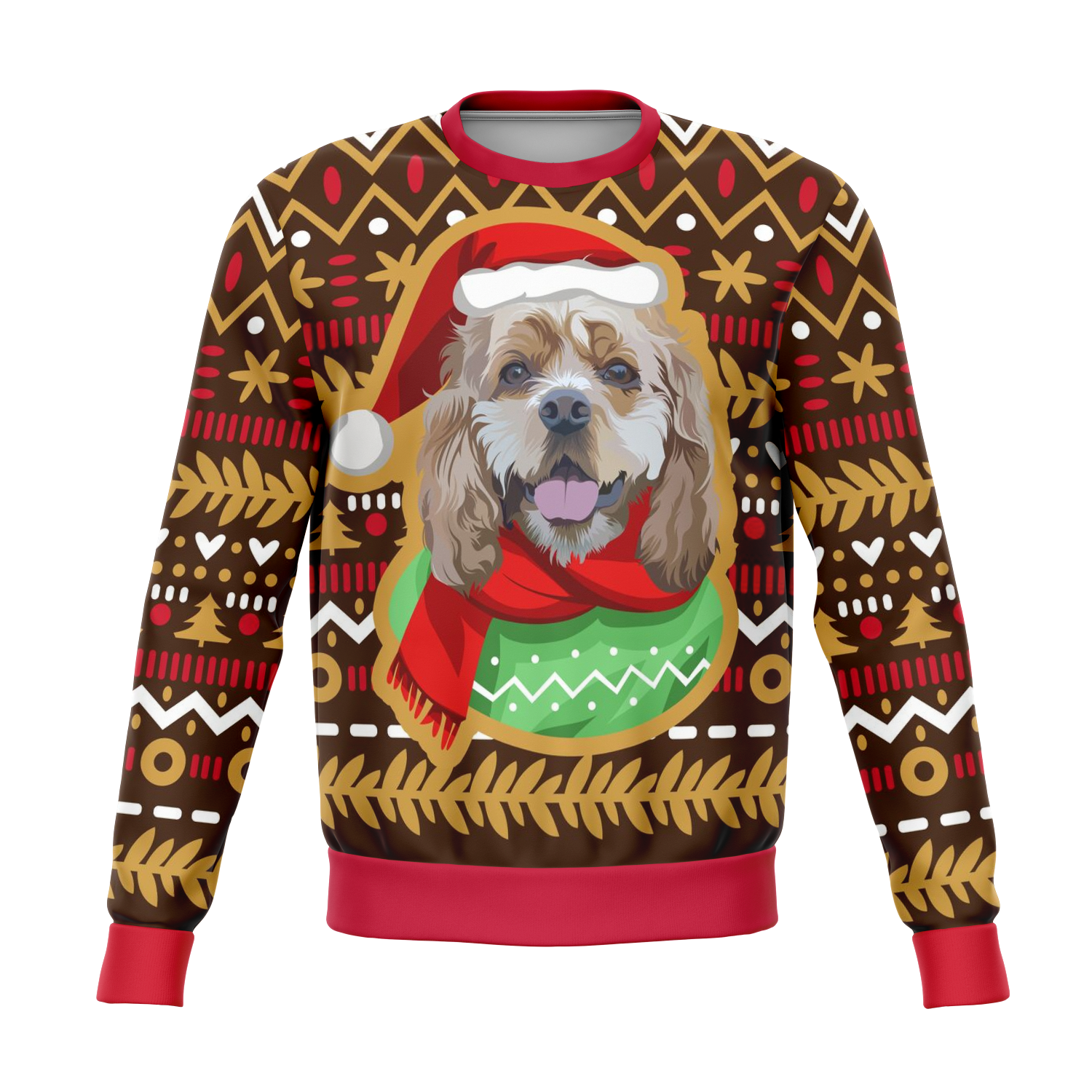 Custom Christmas Sweater for Dog Owners - 004