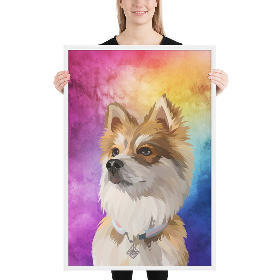 Custom Dog Poster with Watercolour Background