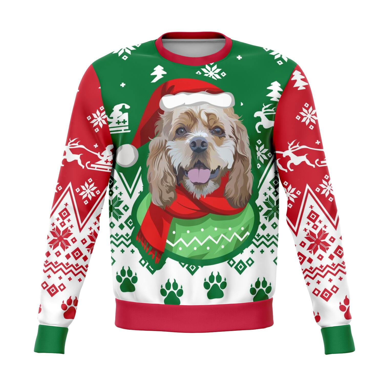 Custom Christmas Sweater for Dog Owners - 005