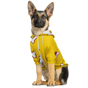 Matching Dog Zip Up Hoodie - Yellow