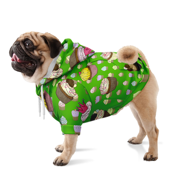 Custom Matching Dog Zip Up Hoodie - Cupcake Theme