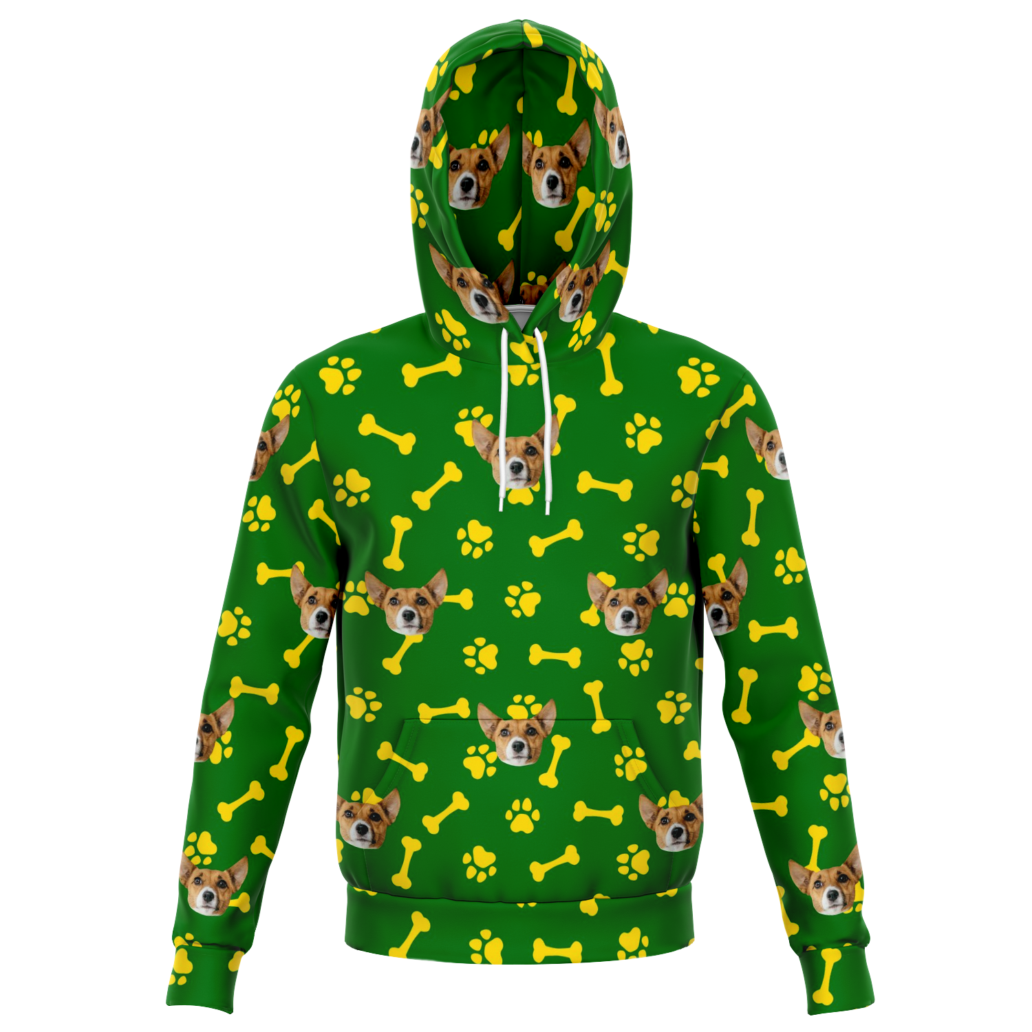 Custom Human Unisex Hoodie with Dog's Face