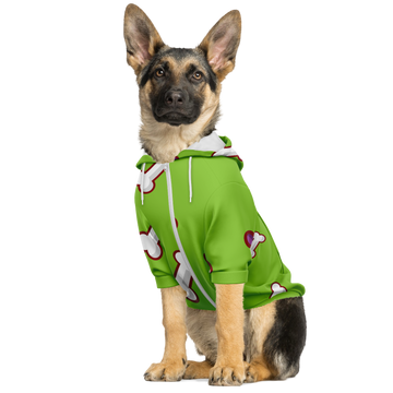 Matching Dog Zip Up Hoodie - Green