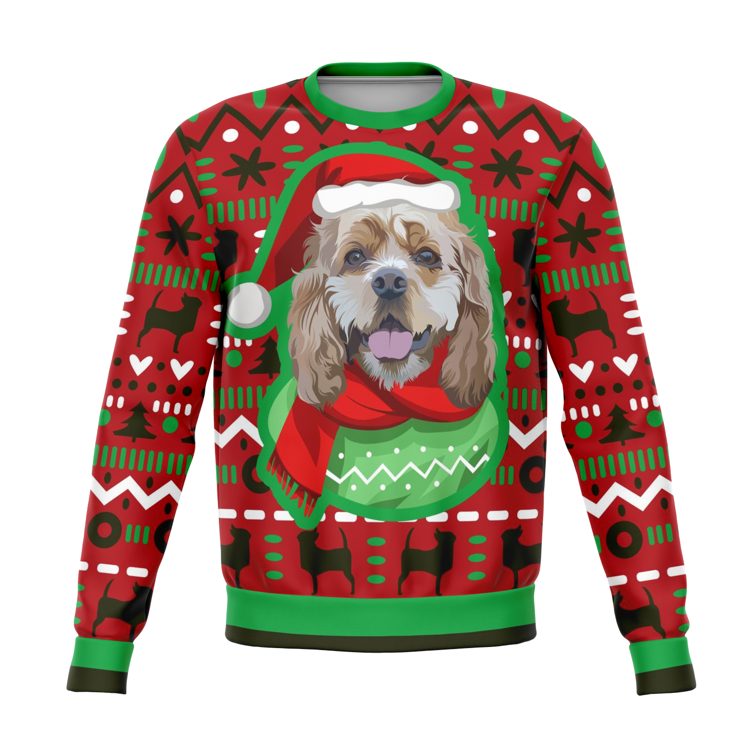Custom Christmas Sweater for Dog Owners - 002
