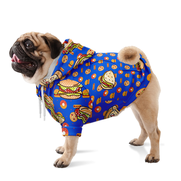 Custom Matching Dog Zip Up Hoodie - Fast Food Theme