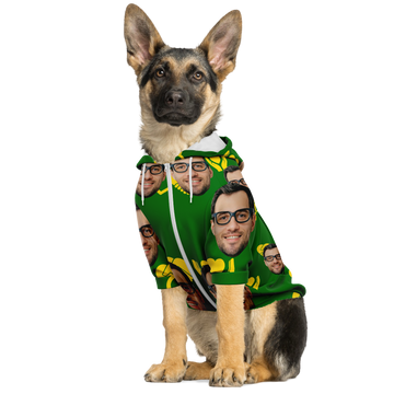 Custom Dog Zip Up Hoodie with Owners Face