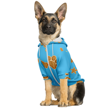 Matching Dog Zip Up Hoodie - Light Blue