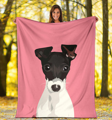 Custom Pet Fleece Blanket - Solid Backgrounds