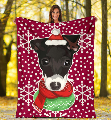 Custom Dog Christmas Blanket - Snowflakes 010