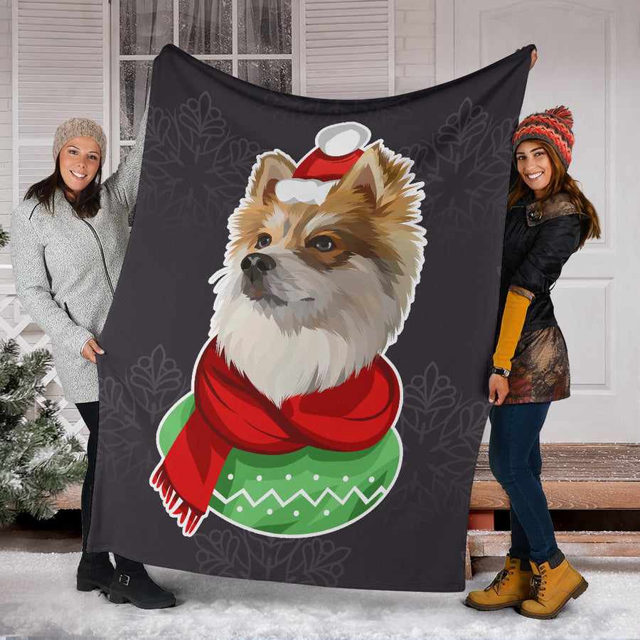 Custom Dog Christmas Blanket - Snowflakes 012