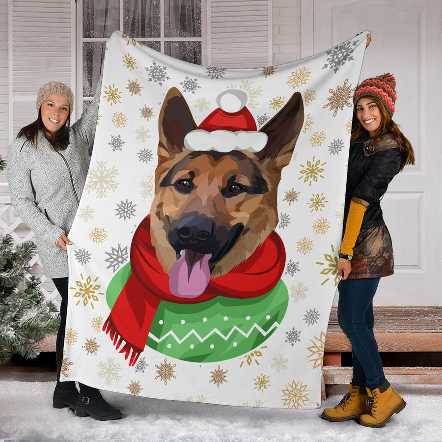 Custom Dog Christmas Blanket - Snowflakes 011