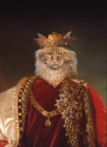 The King of the Furryland Custom Pet Portrait