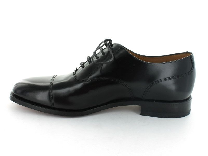 Loake 200 in Black Leather inner view