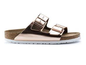 Birkenstock Arizona in Metallic Copper outer view