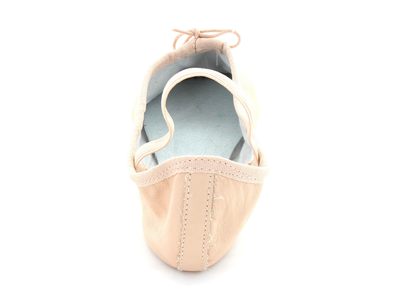 Ballet Pumps in Pink Leather back view