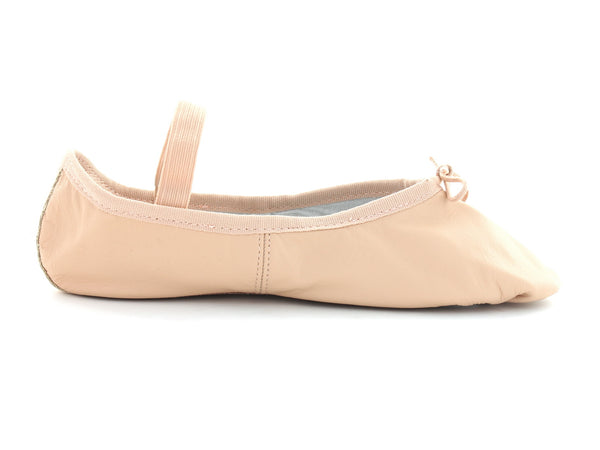 Ballet Pumps in Pink Leather outer view