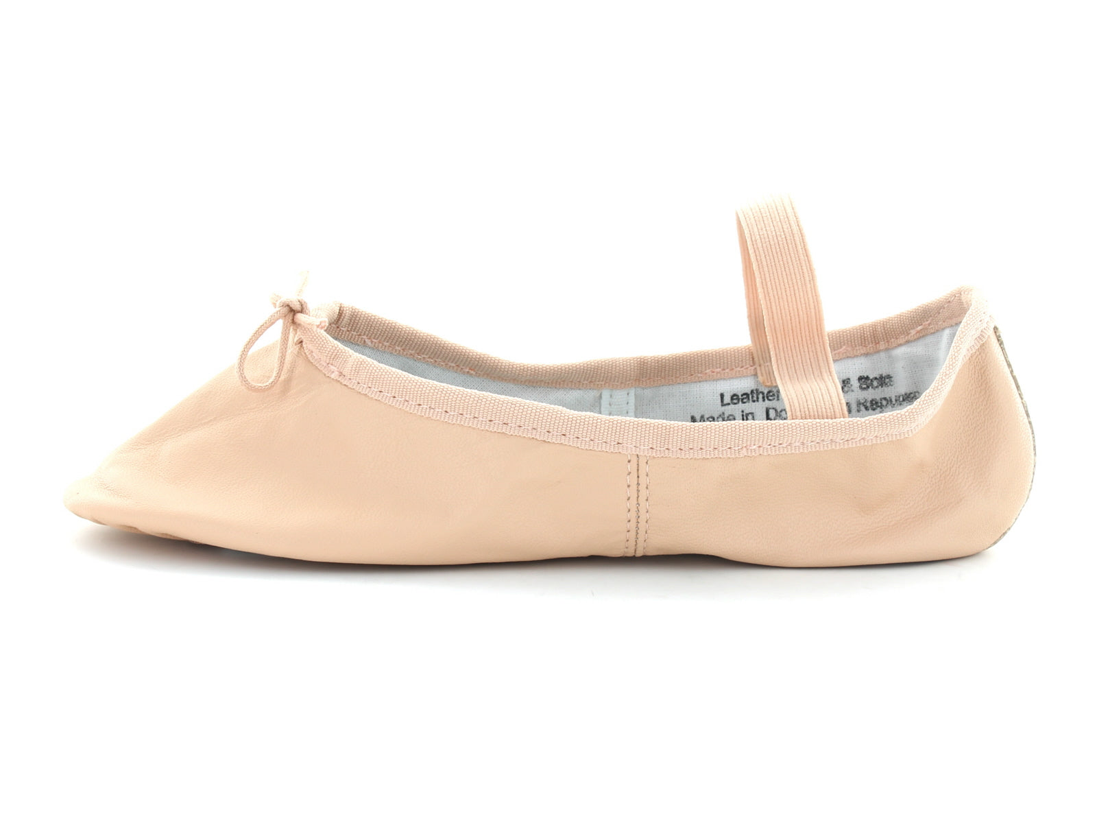Ballet Pumps in Pink Leather inner view