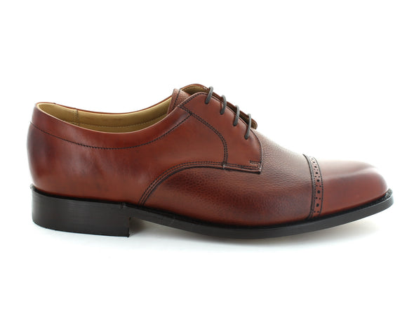 Barker Staines in Rosewood Leather outer view