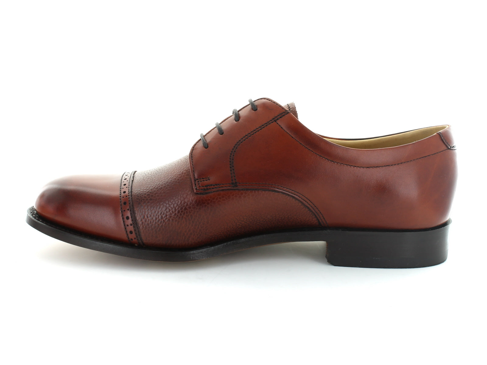 Barker Staines in Rosewood Leather inner view