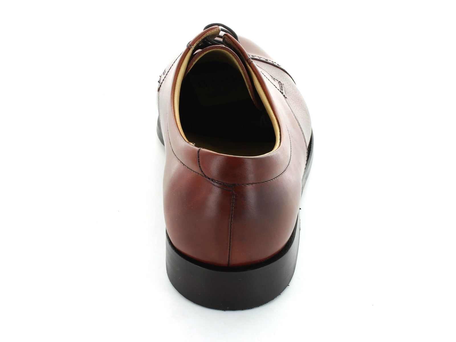 Barker Staines in Rosewood Leather back view