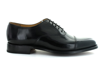 Barker Luton in Black Leather outer view