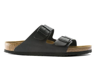Birkenstock Arizona in Black leather outer view
