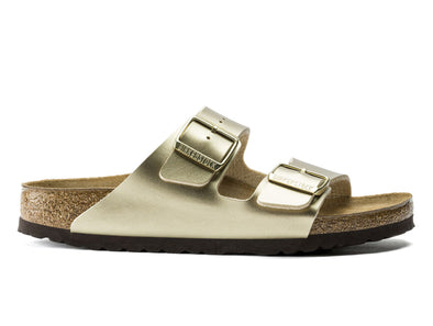 Birkenstock Arizona in Gold outer view