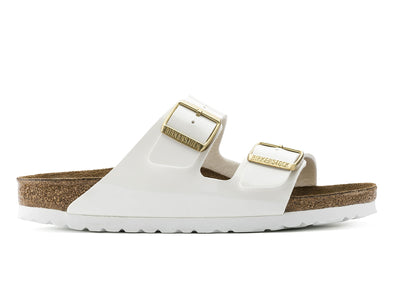 Birkenstock Arizona in Patent White outer view