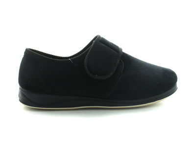 Padders Charles in Black Suede outer view