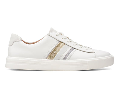 Clarks Un Maui Band in White Interest outer view