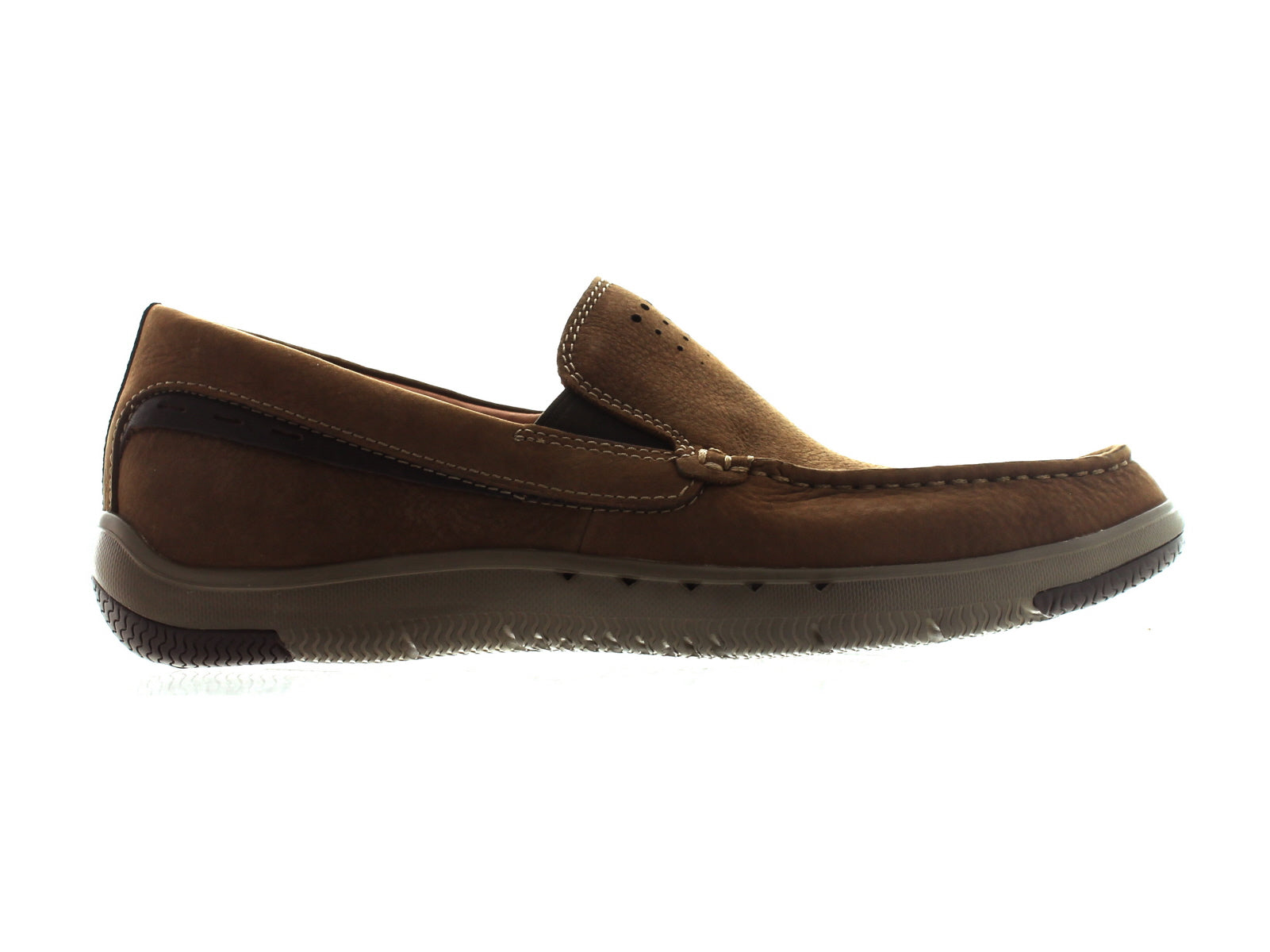 Clarks Unmaslow Easy in Brown Nubuck outer view